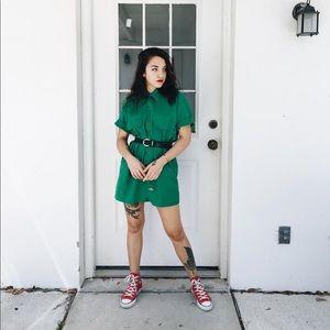 Green Dickies Button Up Short Sleeve